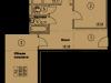 """Схема квартиры в проекте """"Солнечная аллея""""- #1625730717"""