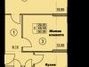 """Схема квартиры в проекте """"Солнечная аллея""""- #127071183"""