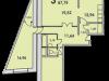"""Схема квартиры в проекте """"Сосновый бор""""- #1407011729"""