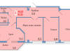 """Схема квартиры в проекте """"Сосновый парк""""- #586013693"""