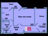 """Схема квартиры в проекте """"Сосновый парк""""- #1752562857"""