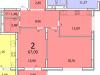 """Схема квартиры в проекте """"Современник""""- #901328190"""