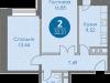 """Схема квартиры в проекте """"Спортивный квартал""""- #391325761"""
