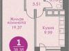 """Схема квартиры в проекте """"Спортивный квартал""""- #303556927"""