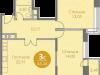 """Схема квартиры в проекте """"Спортивный квартал""""- #242566696"""