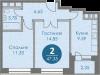 """Схема квартиры в проекте """"Спортивный квартал""""- #252554042"""