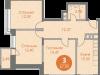 """Схема квартиры в проекте """"Спортивный квартал""""- #1175977318"""
