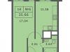 """Схема квартиры в проекте """"Спутник""""- #1757689863"""