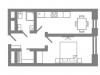 "Схема квартиры в проекте ""Stellar City""- #1303891980"