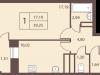 """Схема квартиры в проекте """"Столичный""""- #1567363694"""