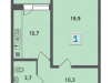 """Схема квартиры в проекте """"Стрешнево""""- #1078802685"""