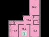 """Схема квартиры в проекте """"Стрешнево""""- #564394459"""