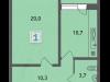 """Схема квартиры в проекте """"Стрешнево""""- #591700332"""