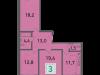 """Схема квартиры в проекте """"Стрешнево""""- #186783137"""