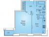 """Схема квартиры в проекте """"Суханово парк""""- #1859992081"""