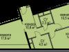 """Схема квартиры в проекте """"Светолюбово""""- #1597308091"""