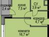 """Схема квартиры в проекте """"Светолюбово""""- #425823732"""