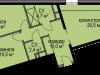 """Схема квартиры в проекте """"Светолюбово""""- #1102914064"""