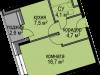 """Схема квартиры в проекте """"Светолюбово""""- #1307732982"""
