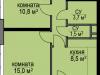 """Схема квартиры в проекте """"Светолюбово""""- #1954101621"""