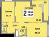"""Схема квартиры в проекте """"Татьянин Парк""""- #1078266076"""