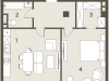 "Схема квартиры в проекте ""The Mostman""- #430549157"