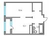 "Схема квартиры в проекте ""Тринити""- #523938784"