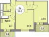 """Схема квартиры в проекте """"Триумфальный (Кутузовская миля)""""- #1345730020"""