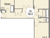 """Схема квартиры в проекте """"Триумфальный (Кутузовская миля)""""- #660000091"""