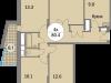 """Схема квартиры в проекте """"Триумфальный (Кутузовская миля)""""- #507755715"""