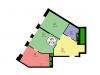 "Схема квартиры в проекте ""Union Park (Юнион парк)""- #1965889934"