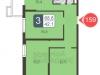"""Схема квартиры в проекте """"В Некрасовке-2""""- #1791449864"""