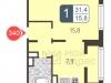 """Схема квартиры в проекте """"В Некрасовке-2""""- #1283085177"""