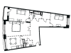 "Схема квартиры в проекте ""Вавилова, 69А""- #75166867"