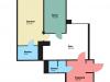 """Схема квартиры в проекте """"Вавилово""""- #1584521878"""