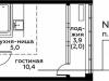 """Схема квартиры в проекте """"Вереск""""- #1312368007"""