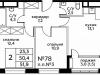 """Схема квартиры в проекте """"Вереск""""- #1424991965"""