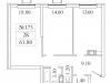 """Схема квартиры в проекте """"Видный Берег 2.0""""- #2082748241"""