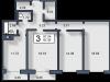 """Схема квартиры в проекте """"Вишневый""""- #1143364436"""