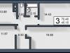 """Схема квартиры в проекте """"Вишневый""""- #1583240800"""
