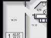 """Схема квартиры в проекте """"Вишневый""""- #1260683488"""
