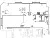 """Схема квартиры в проекте """"Виват Чехов""""- #1692187385"""