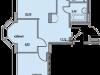 """Схема квартиры в проекте """"Восточный берег""""- #727178311"""