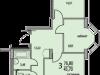 """Схема квартиры в проекте """"Восточный берег""""- #1342833212"""