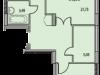 """Схема квартиры в проекте """"Восточный берег""""- #2034140308"""