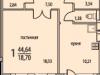 """Схема квартиры в проекте """"Восточный берег""""- #1808304043"""