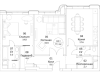 "Схема квартиры в проекте ""ВТБ Арена Парк""- #1881889702"