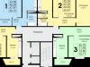 """Схема квартиры в проекте """"Высокие Жаворонки""""- #723782672"""