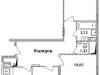 """Схема квартиры в проекте """"Высокий Берег""""- #1932637425"""