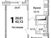 """Схема квартиры в проекте """"Высокий Берег""""- #920499167"""